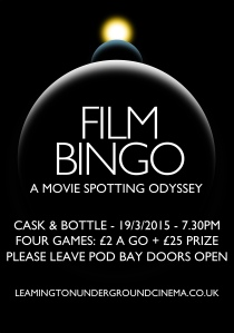 Film Bingo 19 march 2015